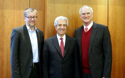 Uruguays Präsident Tabaré Vázquez im Gespräch mit Lothar Binding