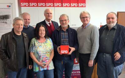 SPD-Senioren feiern Gründung ihrer Arbeitsgemeinschaft 60plus in Schwetzingen